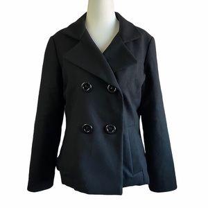 Blazer Puffer Jacket Black Size Medium Long Sleeve